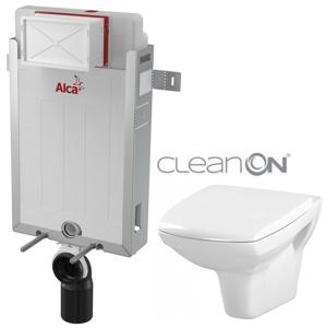 ALCAPLAST Renovmodul předstěnový instalační systém bez tlačítka + WC CERSANIT CLEANON CARINA + SEDÁTKO AM115/1000 X CA1