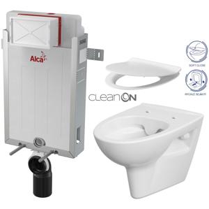 AKCE/SET/ALCAPLAST Renovmodul předstěnový instalační systém + WC CERSANIT CLEANON PARVA + SEDÁTKO AM115/1000 X PA2