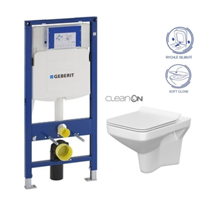 GEBERIT Duofix WC CERSANIT COMO NEW + SEDÁTKO 111.300.00.5 CO1