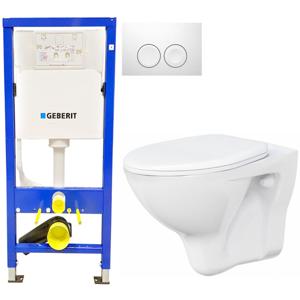 Geberit Duofix tlačítko DELTA21 bílé WC ARES + SEDÁTKO 458.103.00.1 21BI AR1