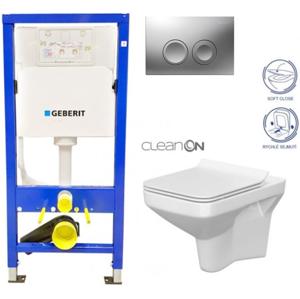 Geberit Duofix tlačítko DELTA21 matné WC CERSANIT COMO CLEANON + SEDÁTKO 458.103.00.1 21MA CO1