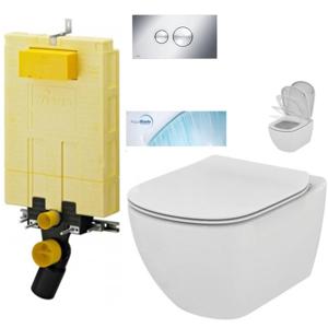 AKCE/SET/VIEGA MONO modul WC čelní ovládání + ovládací tlačítko CHROM + WC TESI se sedátkem SoftClose, AquaBlade V606732CR TE1