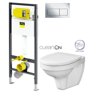 AKCE/SET/VIEGA Presvista modul DRY pro WC včetně tlačítka Life5 CHROM + WC CERSANIT DELFI + SOFT SEDÁTKO V771973 LIFE5CR DE2