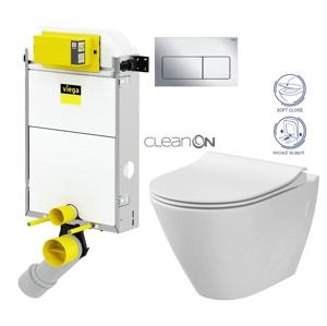 AKCE/SET/VIEGA Presvista modul PURE pro WC včetně tlačítka Life5 CHROM + WC CERSANIT CLEANON CITY V771928 LIFE5CR CI1