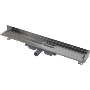 ALCAPLAST APZ116-850 LOW Podlahový žlab s okrajem pro plný rošt, pevný límec ke stěně (kout min.900mm) APZ116-850
