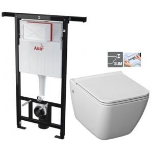 ALCAPLAST Jádromodul předstěnový instalační systém bez tlačítka + WC JIKA PURE + SEDÁTKO DURAPLAST AM102/1120 X PU1