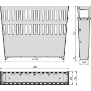 ALCAPLAST Koš na nečistoty velký pozink, pro venkovní žlabovou vpust AVZ-P013 AVZ-P013
