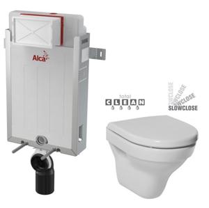 ALCAPLAST Renovmodul předstěnový instalační systém bez tlačítka + WC JIKA TIGO + SEDÁTKO DURAPLAST SLOWCLOSE AM115/1000 X TI2