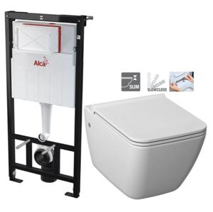 ALCAPLAST Sádromodul předstěnový instalační systém bez tlačítka + WC JIKA PURE + SEDÁTKO SLOWCLOSE AM101/1120 X PU2