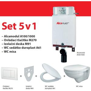 Set modul 5v1 Alcaplast ALCAmísa AM115/1000,M1710,M91/sedátko/mísa Alcamodul A115SET5V1