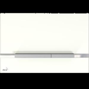 ALCAPLAST STRIPE sklo-bílá, ovládací deska tlačítko, pro předstěnové instalační systémy STRIPE-GL1200 STRIPE-GL1200