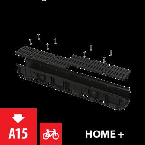 Alcaplast Venkovní žlab 100 mm s plastovým rámem a plastovým roštem A15 AVZ104-R401