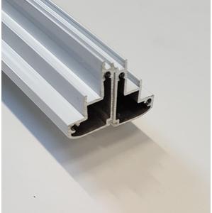 AQUALINE G70 hliníkový profil pohyblivého skla horizontální, 2 ks NDG70-02