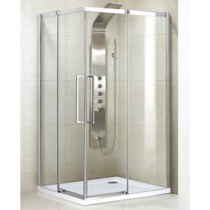 Aquatek ADMIRAL R14 Chrom Luxusní sprchová zástěna obdélníková 100x80cm , sklo 8mm, varianta pravá ADMIRALR14-12