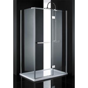 Aquatek CRYSTAL R23 CHROM Sprchová zástěna čiré sklo 8mm 120x80x200cm CRYSTALR23