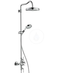 AXOR Montreux Showerpipe s termostatickou baterií a horní sprchou 1jet, chrom 16572000