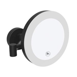 BEMETA Kosmetické zrcátko pr. 200 mm s LED osvětlením IP44 Touch sensor černé 116101770