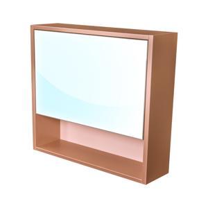 CEDERIKA Amsterdam galerka 1x výklopné barva zrcadlo v AL rámu korpus korpus metallic měděný šíře 75 CA.G1V.193.075