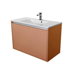 CEDERIKA Amsterdam umyvadlová skříňka 1x šuplík barva metallic měděný korpus korpus metallic měděný šíře 90 CA.U1B.133.090