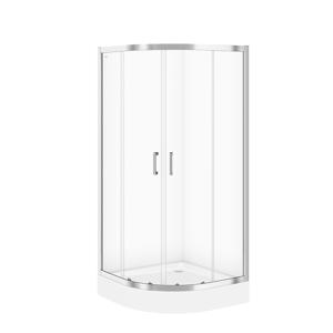 CERSANIT Sprchový kout BASIC čtvrtkruh 90x185, posuv, čiré sklo S158-005