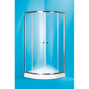 HOPA Čtvrtkruhový sprchový kout s vaničkou NAVARRA Hliník chrom, Matné bezpečnostní sklo 5 mm OLBNAV290CMBV+OLBNAV290V