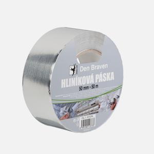 Den Braven Lepící páska AL 50mm x 100m hliníková stříbrná jednostranně lepící B754RL B754RL