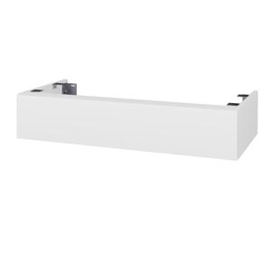 Dřevojas Doplňková skříňka pod desku DSD SZZ 100. bez výřezu (výška 20 cm) N01 Bílá lesk / D06 Ořech 229511