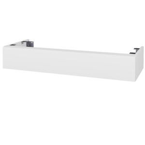 Dřevojas Doplňková skříňka pod desku DSD SZZ 120. s výřezem (výška 20 cm) N01 Bílá lesk / D04 Dub 232221