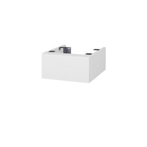 Dřevojas Doplňková skříňka pod desku DSD SZZ 40. bez výřezu (výška 20 cm) N01 Bílá lesk / D15 Nebraska 222482