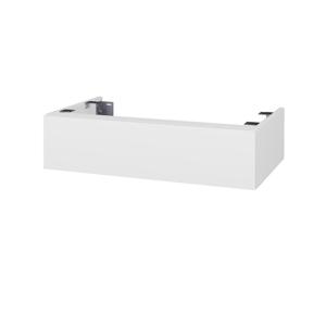 Dřevojas Doplňková skříňka pod desku DSD SZZ 80. s výřezem (výška 20 cm) N01 Bílá lesk / M01 Bílá mat 228446
