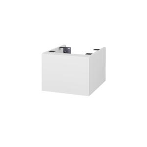 Dřevojas Doplňková skříňka pod desku DSD SZZ1 40. s výřezem (výška 30 cm) N01 Bílá lesk / N03 Graphite 223779