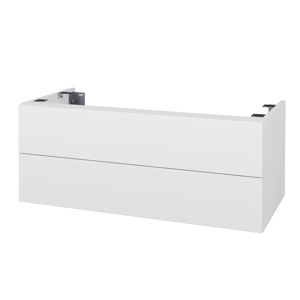 Dřevojas Doplňková skříňka pod desku DSD SZZ2 100. bez výřezu (výška 40 cm) N01 Bílá lesk / N06 Lava 231194