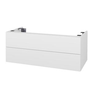 Dřevojas Doplňková skříňka pod desku DSD SZZ2 100. s výřezem (výška 40 cm) N01 Bílá lesk / D01 Beton 231415