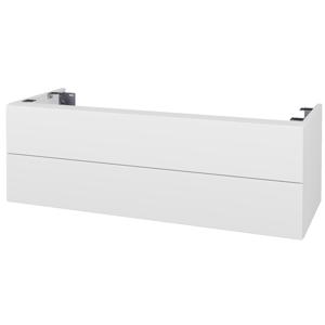 Dřevojas Doplňková skříňka pod desku DSD SZZ2 120. s výřezem (výška 40 cm) N01 Bílá lesk / D03 Cafe 233778