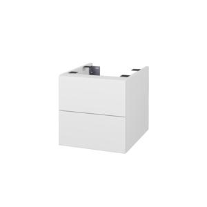 Dřevojas Doplňková skříňka pod desku DSD SZZ2 40. s výřezem (výška 40 cm) N01 Bílá lesk / L01 Bílá vysoký lesk 224509