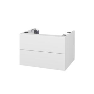 Dřevojas Doplňková skříňka pod desku DSD SZZ2 60. s výřezem (výška 40 cm) N01 Bílá lesk / D02 Bříza 226749