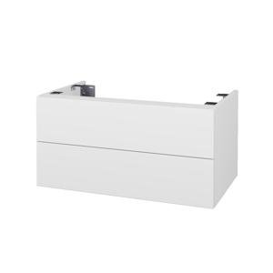Dřevojas Doplňková skříňka pod desku DSD SZZ2 80. s výřezem (výška 40 cm) N01 Bílá lesk / L01 Bílá vysoký lesk 227654
