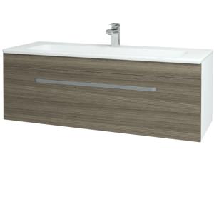 Dřevojas Koupelnová skříň ASTON SZZ 120 N01 Bílá lesk / Úchytka T01 / D03 Cafe 131111A