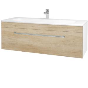 Dřevojas Koupelnová skříň ASTON SZZ 120 N01 Bílá lesk / Úchytka T03 / D15 Nebraska 173975C