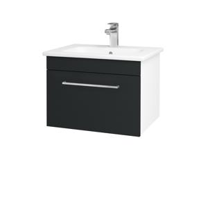 Dřevojas Koupelnová skříň ASTON SZZ 60 N01 Bílá lesk / Úchytka T04 / L03 Antracit vysoký lesk 137489E