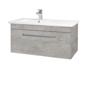 Dřevojas Koupelnová skříň ASTON SZZ 90 N01 Bílá lesk / Úchytka T01 / D03 Cafe 199654A