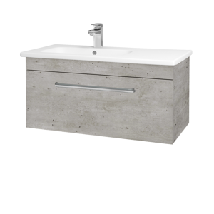 Dřevojas Koupelnová skříň ASTON SZZ 90 N01 Bílá lesk / Úchytka T04 / D10 Borovice Jackson 199715E
