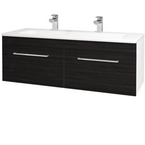 Dřevojas Koupelnová skříň ASTON SZZ2 120 N01 Bílá lesk / Úchytka T04 / D14 Basalt 146887EU