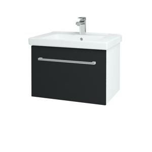 Dřevojas Koupelnová skříň BIG INN SZZ 65 N01 Bílá lesk / Úchytka T03 / L03 Antracit vysoký lesk 149550C