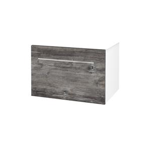 Dřevojas Koupelnová skříň BIG INN SZZ 65 N01 Bílá lesk / Úchytka T04 / D10 Borovice Jackson 127695E