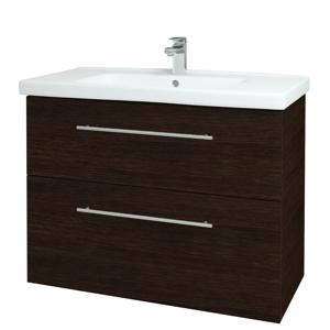 Dřevojas Koupelnová skříň BIG INN SZZ2 100 D08 Wenge / Úchytka T02 / D08 Wenge 133160B