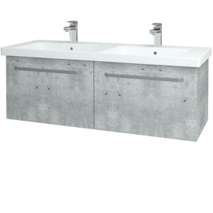 Dřevojas Koupelnová skříň BIG INN SZZ2 125 D01 Beton / Úchytka T01 / D01 Beton 128548A