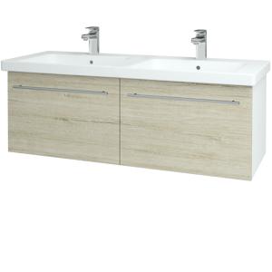 Dřevojas Koupelnová skříň BIG INN SZZ2 125 N01 Bílá lesk / Úchytka T02 / D05 Oregon 28728B