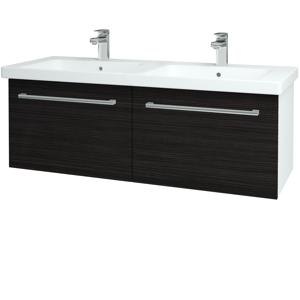 Dřevojas Koupelnová skříň BIG INN SZZ2 125 N01 Bílá lesk / Úchytka T03 / D14 Basalt 149765C