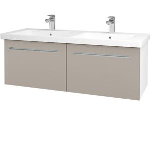 Dřevojas Koupelnová skříň BIG INN SZZ2 125 N01 Bílá lesk / Úchytka T03 / N07 Stone 201647C